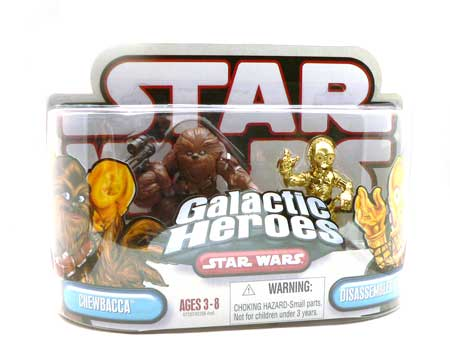 Star Wars®, Star Wars Action Figures®, Galactic Heroes®, Action Figure Review, Chewbacca, Chewie, C-3PO