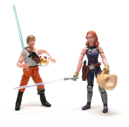 Star Wars®, Star Wars Action Figures®, Luke Skywalker®, Jedi Knight, Mara Jade®,Comic two Pack, Action Figure Review, Hasbro
