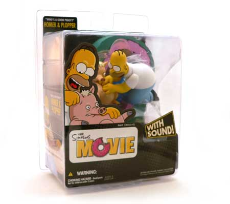 Simpons®, Homer Simpson®, Plopper, Simpsons Movie, Action Figure Review