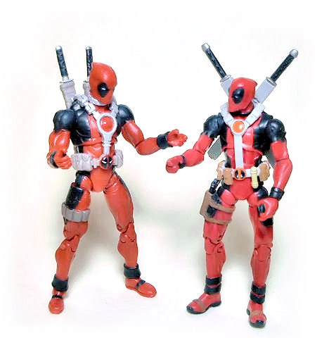 Two versions of Deadpool