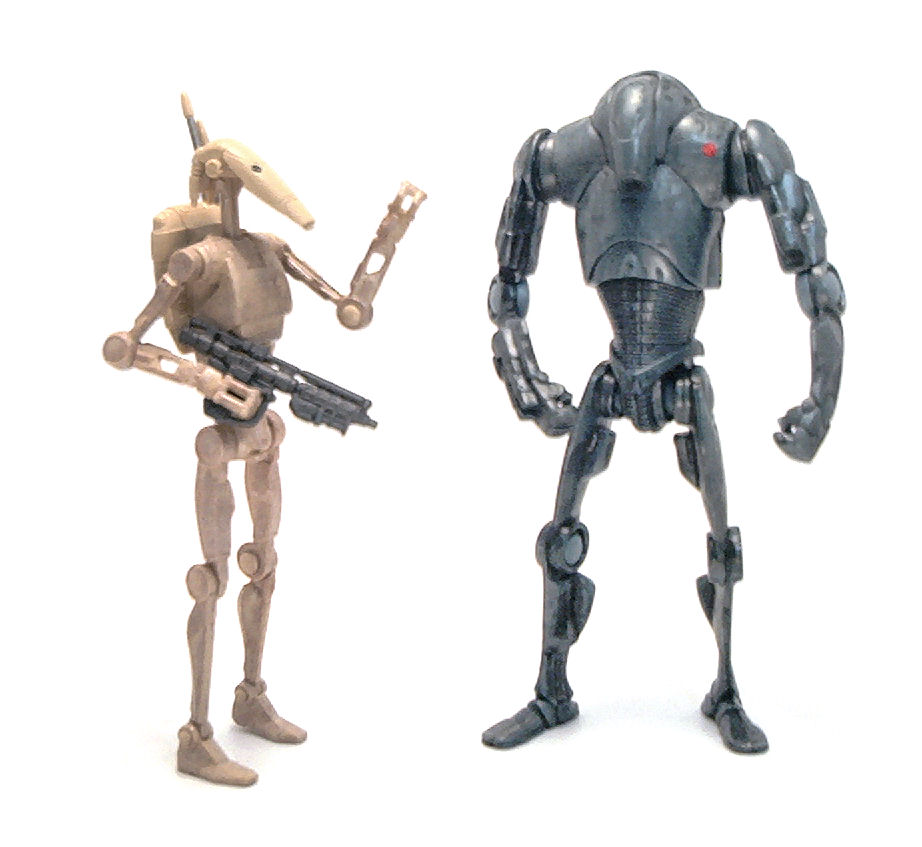 Star Wars Droids Toys : Battle droid star wars action figure review tv and film toys