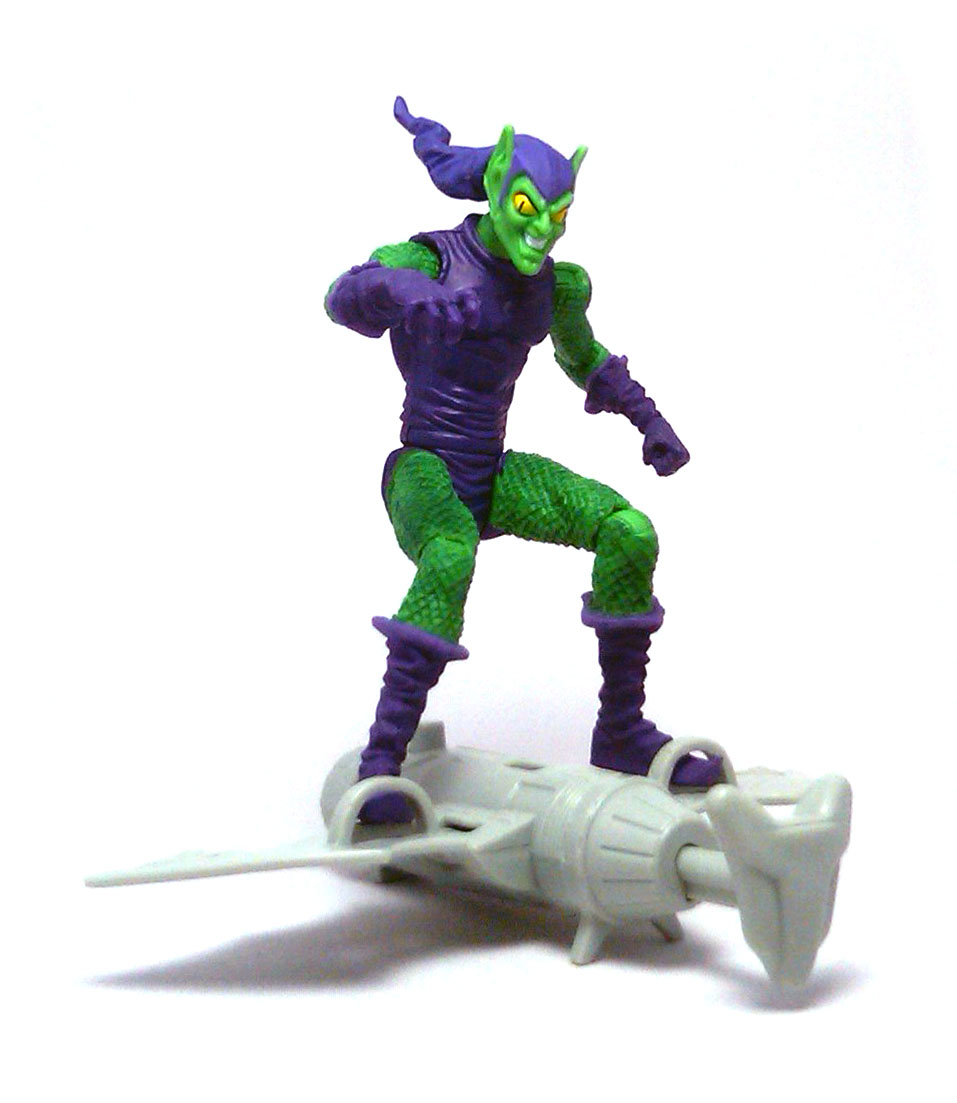 glider attack green goblin spider man action figure review